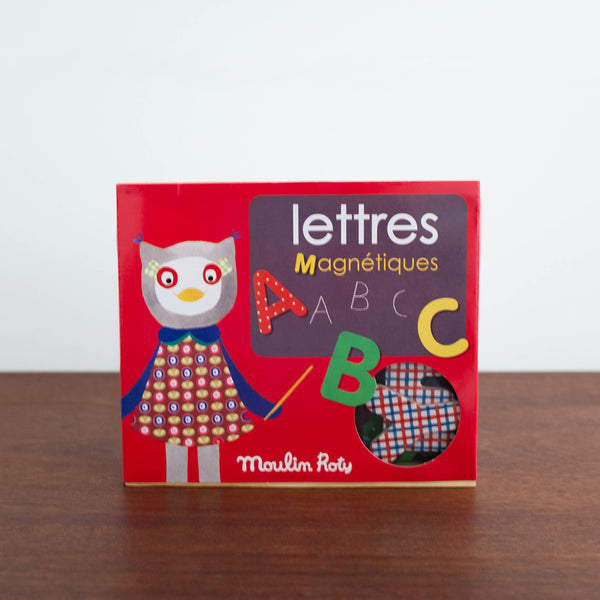 Les Popipop ABC Magnets in a Wooden Box