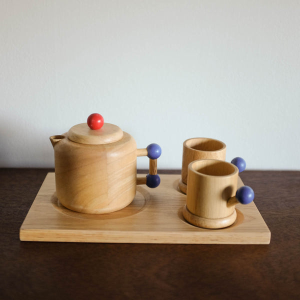 Wooden Pots and Cups Set