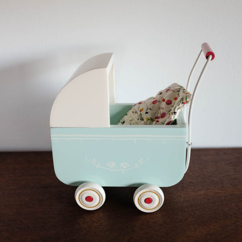 Light Blue Pram for Mini Doll