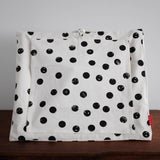 Mini Doll Play Tent - Black Dots