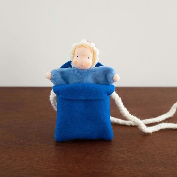 Baby in Pocket Necklace- Blue