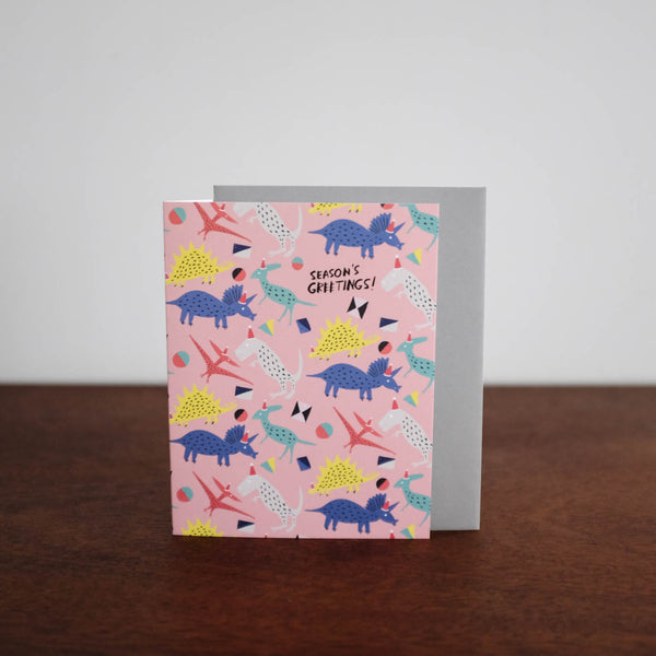 Dinosaur Seasons Greeting Card
