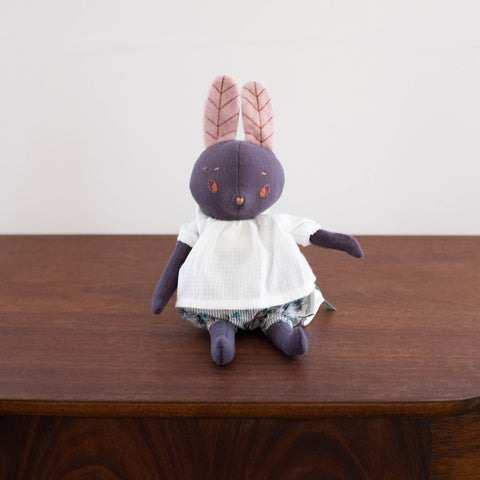 Apres La Pluie French Animal Doll - Black Bunny