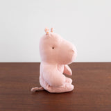 Pink Hippo Plush Doll- Small