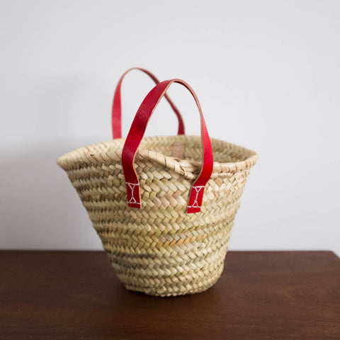 Mini French Market Baskets - Rouge