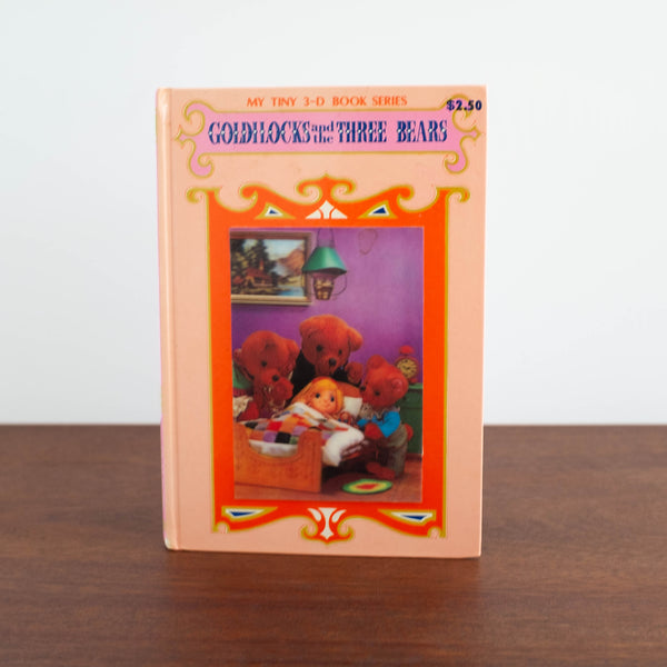 Vintage Book: Goldilocks, Tiny 3-D Book Series