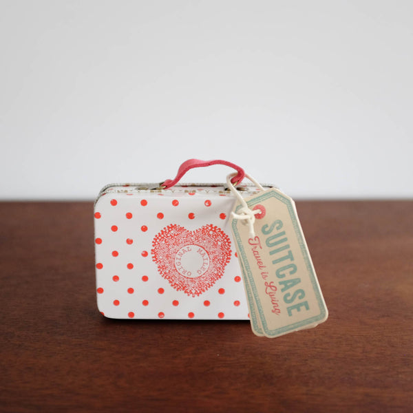 Micro Suitcase with Outfits-Polka Dot Red