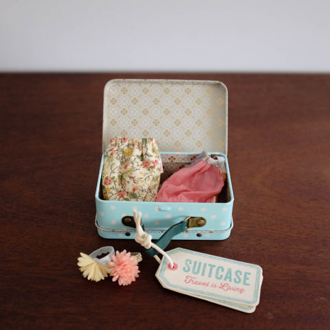 Micro Suitcase with Outfits-Dusty Blue