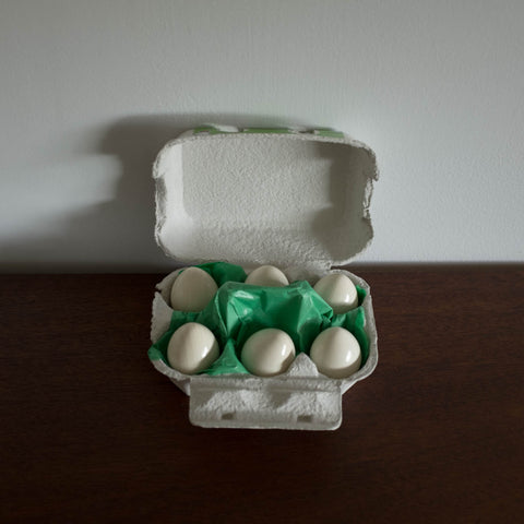 Wooden Eggs in a Carton Toy