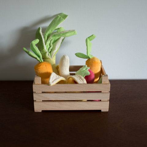 Veggie Wooden Basket Set