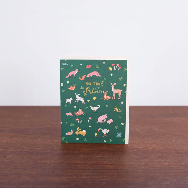 Tiny Animals Greeting Card