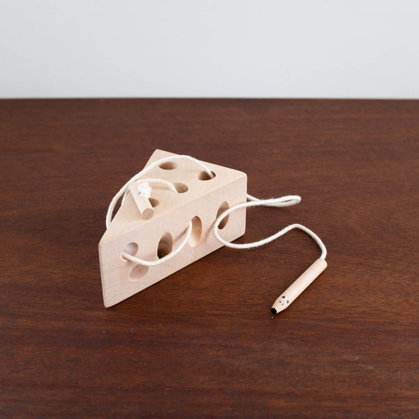 Lacing Wooden Cheese Toy