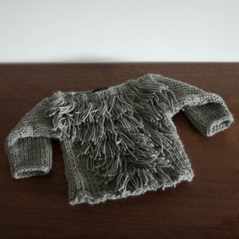 Alpaca Fringe Sweater
