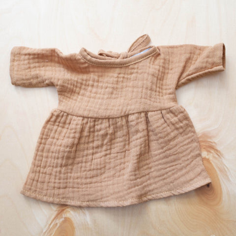 French Baby Doll Outfit: Gauze Dress Tan