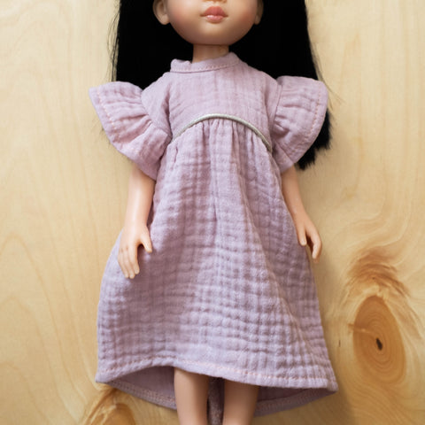 Amigas Doll Outfit: Gauze Pink Dress