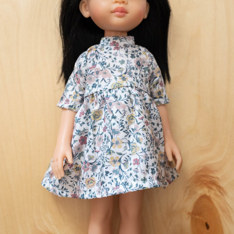 Amigas Doll Outfit: Liberty Floral Print Dress