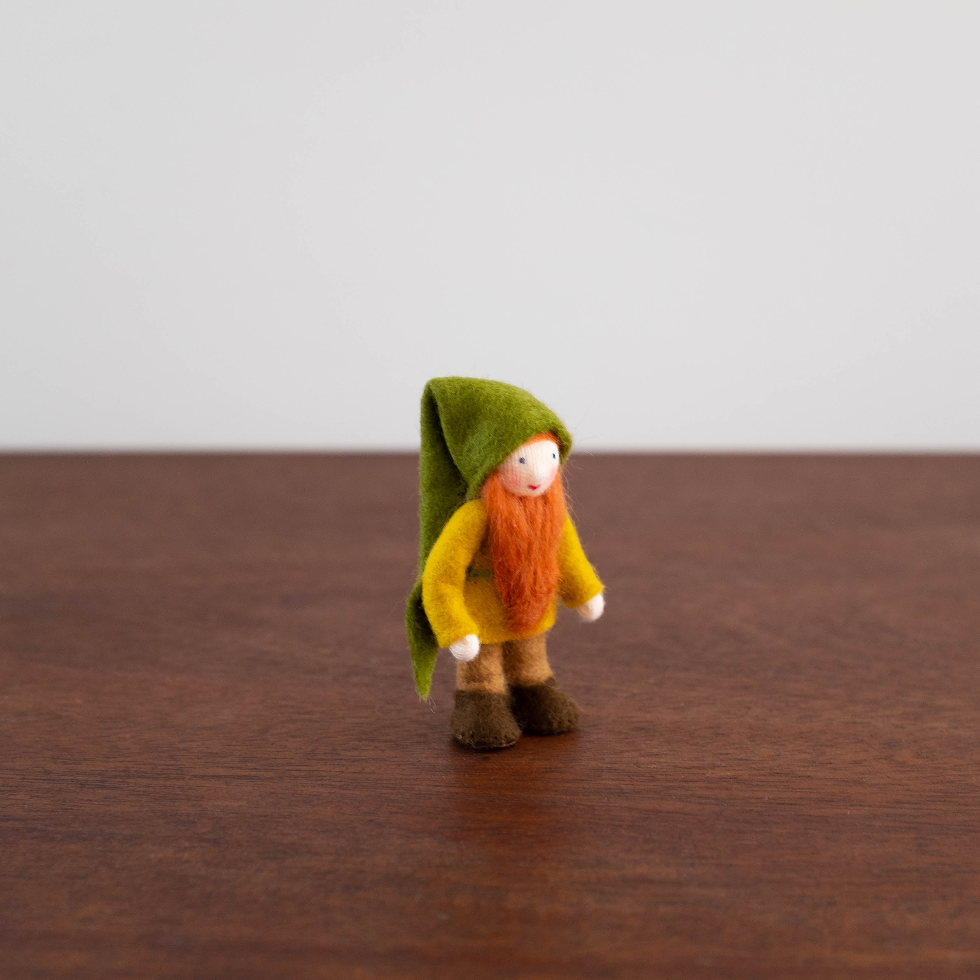 Wool Felt: Green Hat Forest Gnome