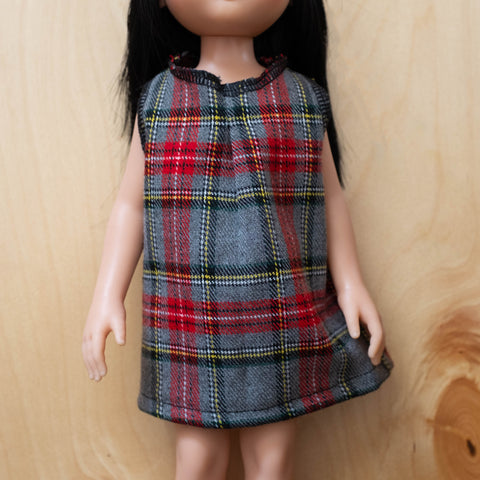 Amigas Doll Outfit: Checkered Dress