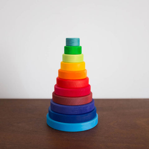 Wooden Large Conical Tower: Rainbow