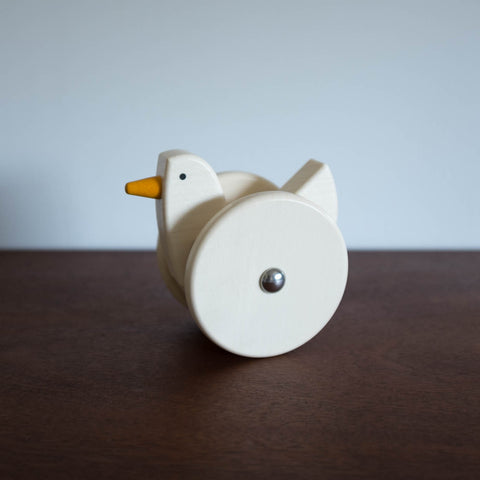 Wooden Wobbling Chicken Toy- Natural