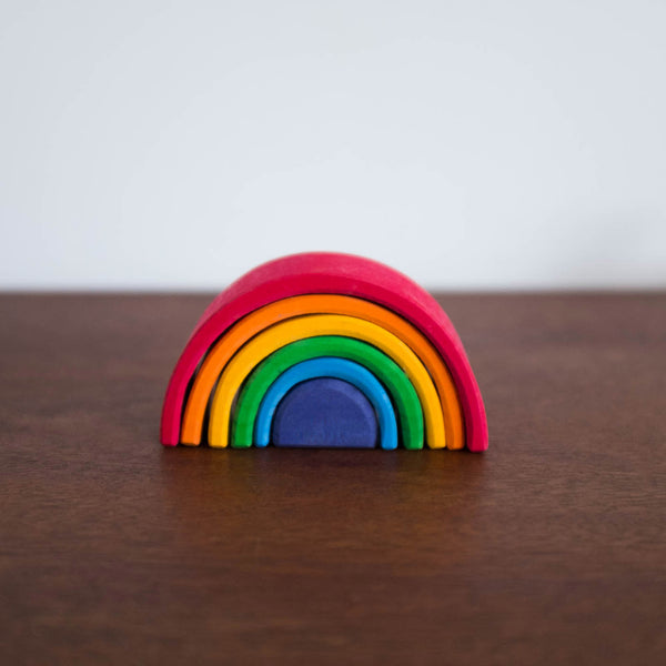Wooden Rainbow Small-Multi Color