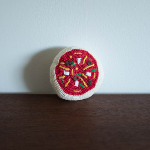 Organic Pizza Toy Baby Rattle