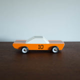 Orange Racer Wooden Toy Car