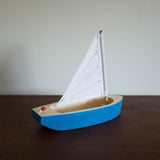 Blue and White Sailboat