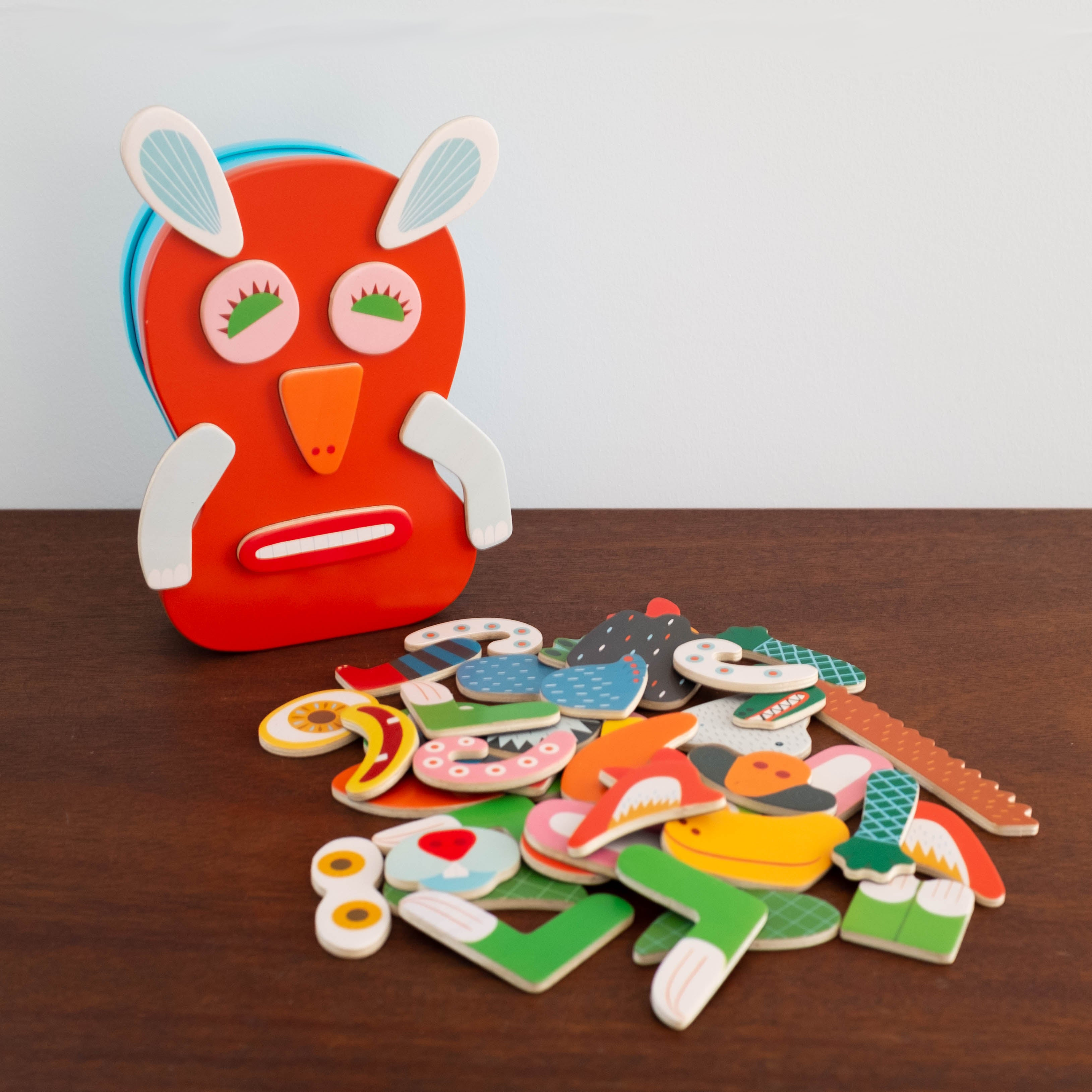 Magnetic Monster Puzzle Tin Case Set