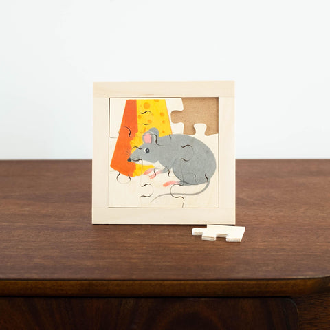 Wooden Puzzles: Mouse with Cheese
