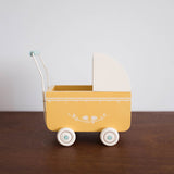 Yellow Pram for Mini Doll