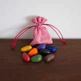 Crayon Rocks in a Gingham Bag - 8 colors
