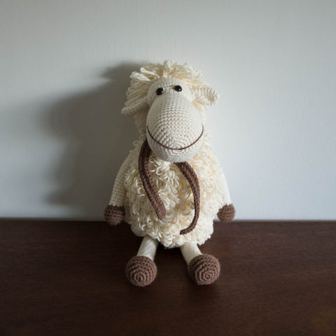 Crochet Organic Sheep Doll