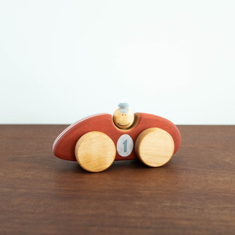 Wooden Race Car Toy- Red