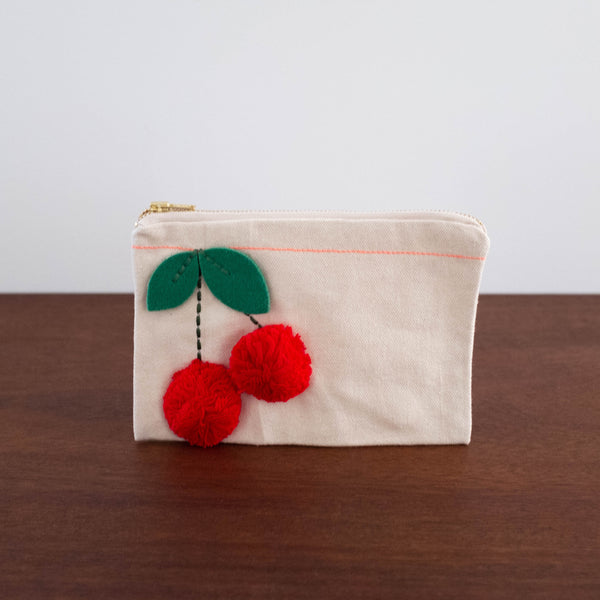 Cherry Pouch Bag