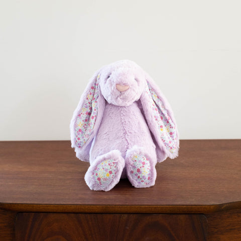Bashful Floral Bunny- Purple