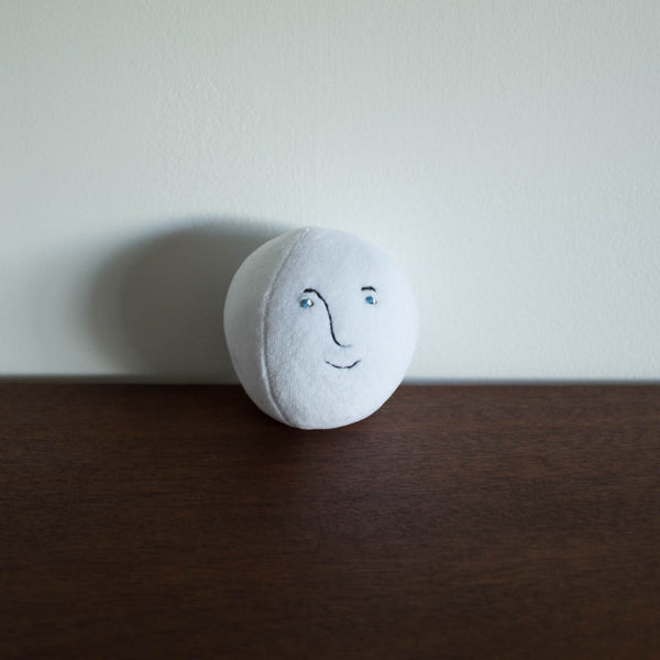 Moon Face Plush Ball Toy- Face #2
