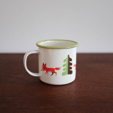 Retro Enamel Fox Mug