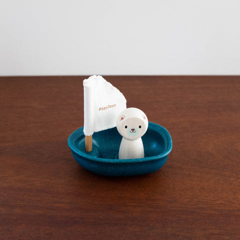 Sailing Boat with Polar Bear Toy