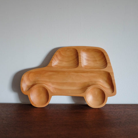 Kids Wooden Plate- Car
