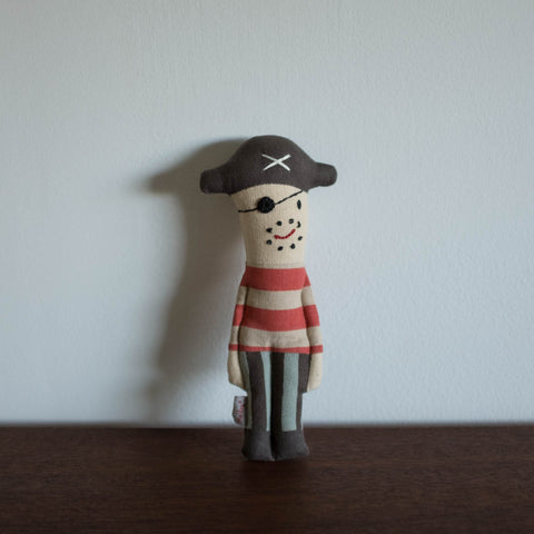 Captain Pirate Rattle Doll