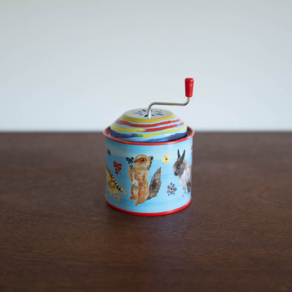 Music Tin Box-  Vintage Blue