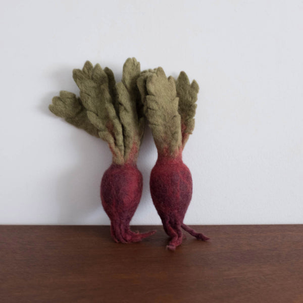 Wool Felt Food Toy: Radish Set of Two