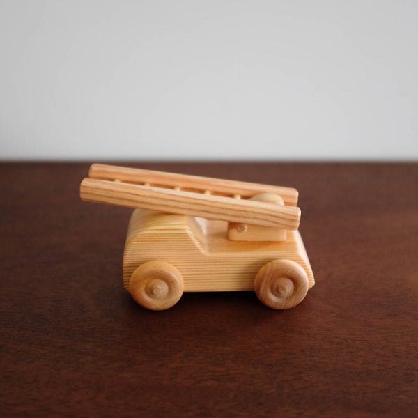 Wooden Small Fire Engine Truck