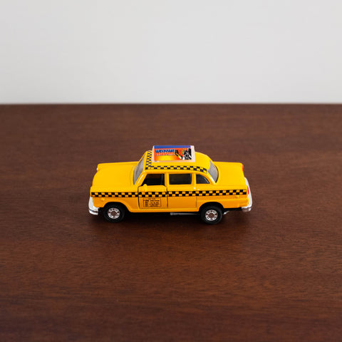 Die Cast Metal Cars: Yellow Taxi Cab