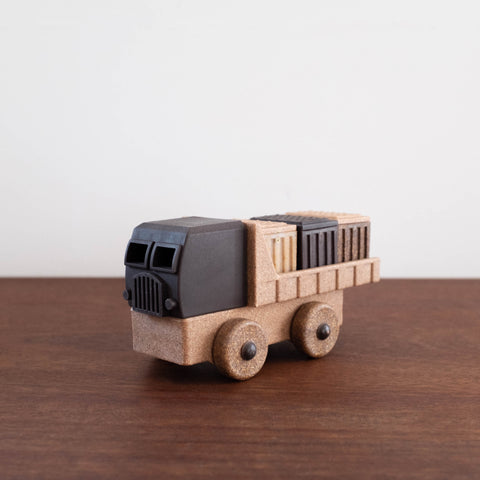Natural Recycled Wood- Cargo Truck