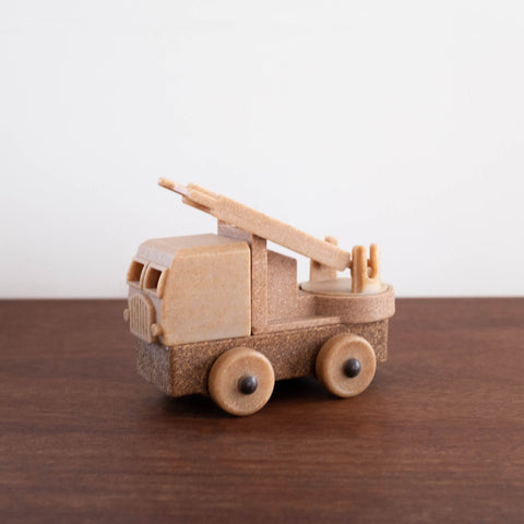 Natural Recycled Wood- Fire Truck