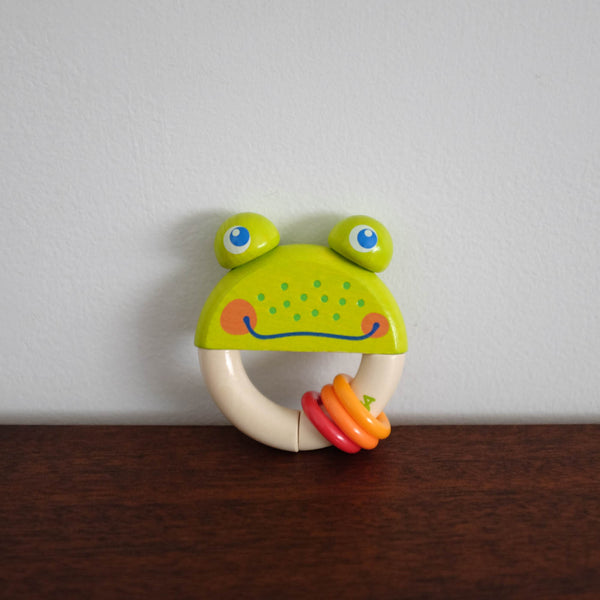 Frog Round Rattle Toy