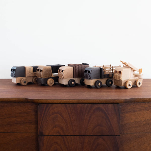 Natural Recycled Wood- Stake Truck