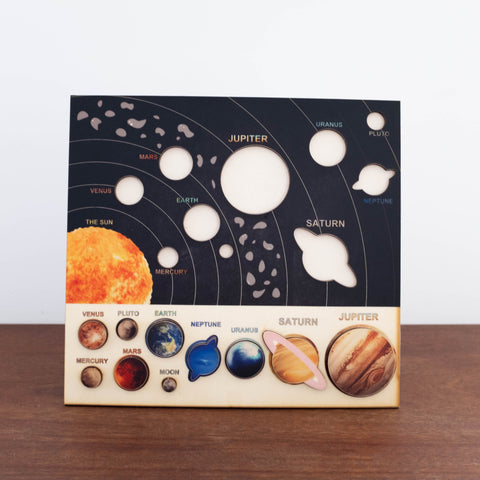3D Wooden Puzzles- The Solar System and Planets